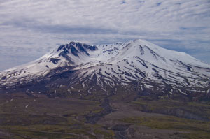 Closer view of Mt. St. Helens
