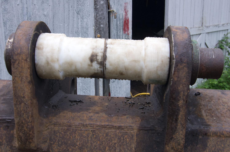 Excavator Pin Repair