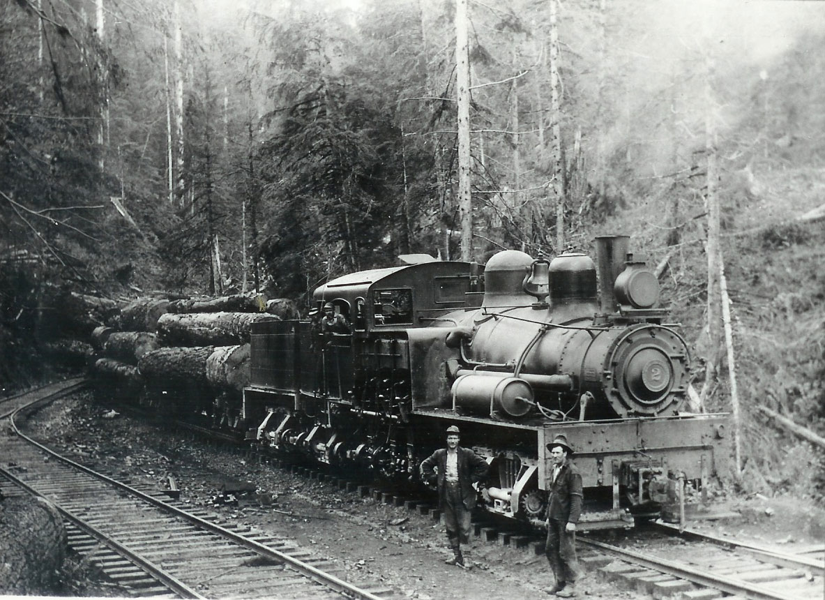 A Class C Shay Locomotive Built For Use On Logging And