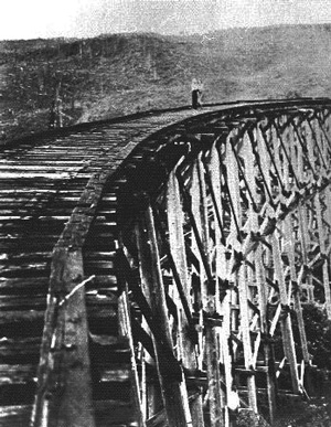 Deer Island Logging trestle